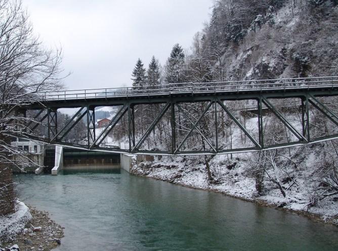 Bahntrassse Ybbstalbahn 2013 Gstadtbrücke und Kraftwerk