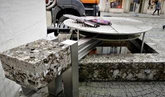 Brunnen desolat - 20.3.2017 Unterer Stadtplatz