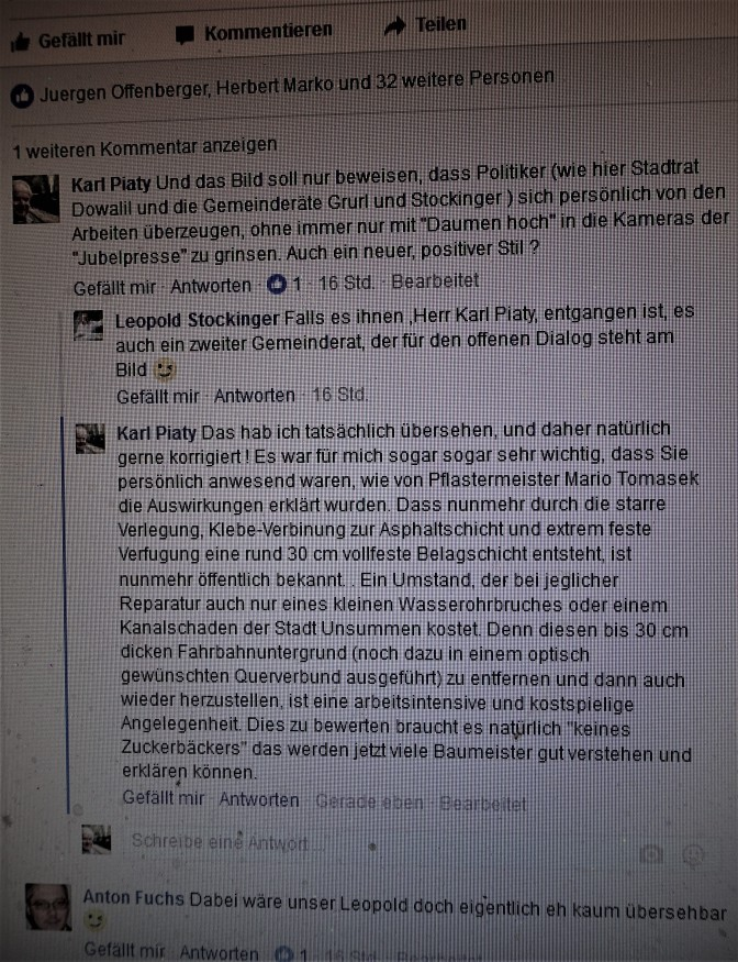 Facebook FUFU - Piaty Stockinger Pflaster