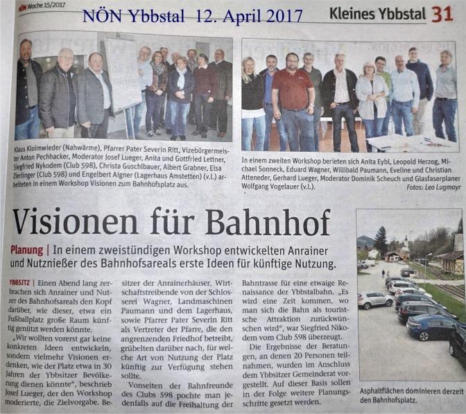 NÖN Bahnhof Datum Ybbsitz 12.4.2017