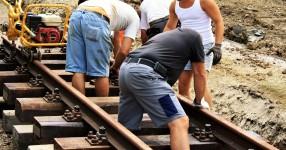 Abbau der Schienen