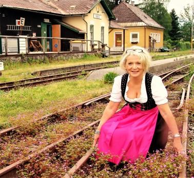 Bahnhof Ybbsitz Blumengeleise Renate