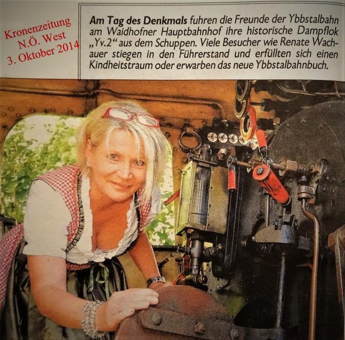 Renate Kronenzeitung 3.10.2014 Dampflok