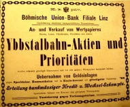 Ybbstalbahn Aktien 1910 soup