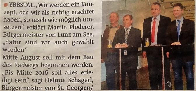 Bezirksblätter Presse Radweg