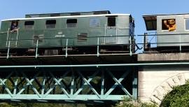 Ötscherbär auf 1. Fahrt über den Berg - Kienberg Lunz 8.8.2015 Gaminger Brücke