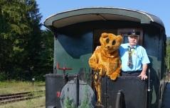 Ötscherbär auf 1. Fahrt über den Berg - Kienberg Lunz 8.8.2015 mit Herrn Morocutti