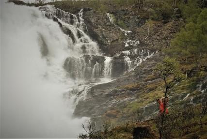 Singende Fee am Wasserfall - Flam Bahn