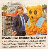 Krammer Ötscherbär Bezirksblätter Bahnhoffest