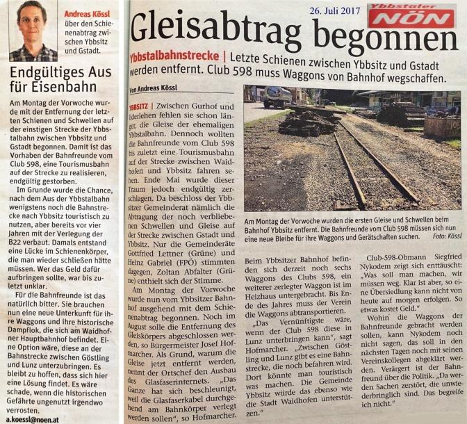 NÖN Kössl Ybbstalbahn und Bericht