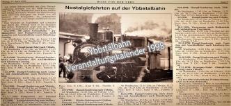 Ybbstalbahn 1998 verä Veranstaltungen Bote