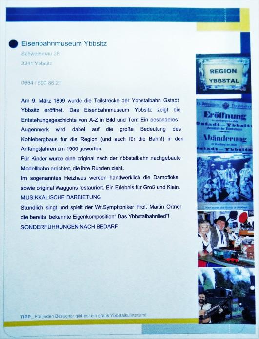 Lange Nacht der Museen ORF Eisenbahnmuseum Ybbsitz