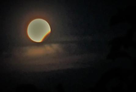 Mond Finsternis 7.8.2017 Foto Renate Wachauer