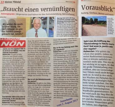 NÖN Zusammenschnitt Interview Hofmarcher NÖN 2. 8. 2017