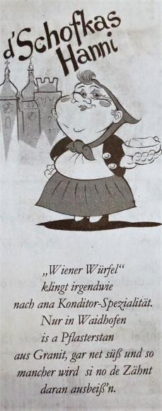 Schofkas hanni Pflaster Wr. Würfel