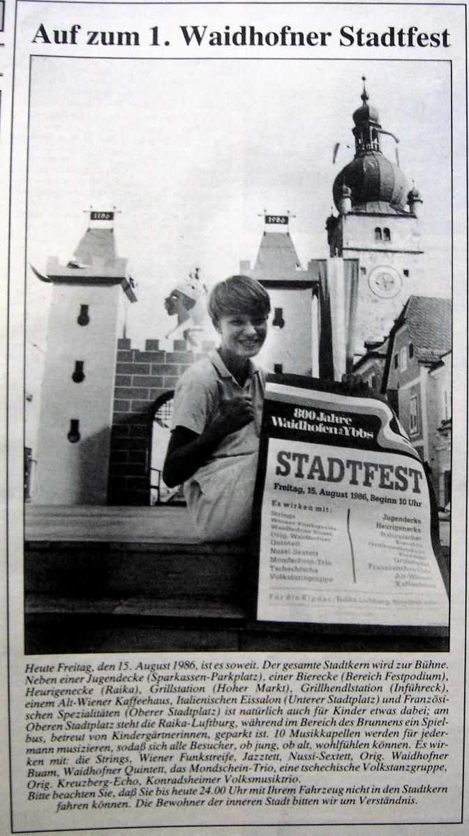 Stadtfest 1986 Titel ganz