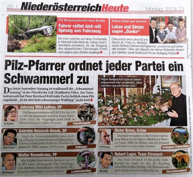 HEUTE Schwammerlaltar 2013
