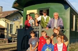 Museumsnacht Ybbsitz Waggon mit Gästen