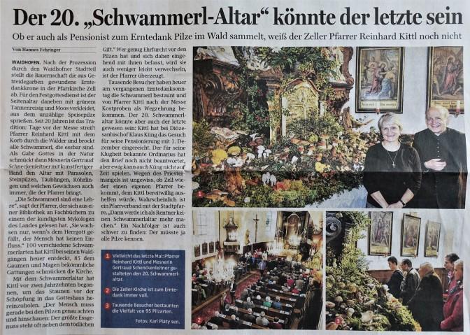 O.Ö.N. Schwammerlaltar 26.9.2017