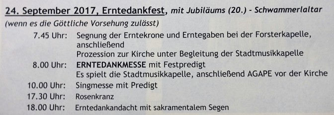 Programm Schwammerlaltar 2017