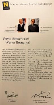 Broschüre Vorwort Pröll Sobotka