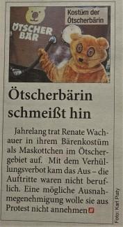 Ötscherbärin HEUTE 23.10.2017