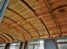 Decke Restaurierung K&K Waggon Ybbstalbahn