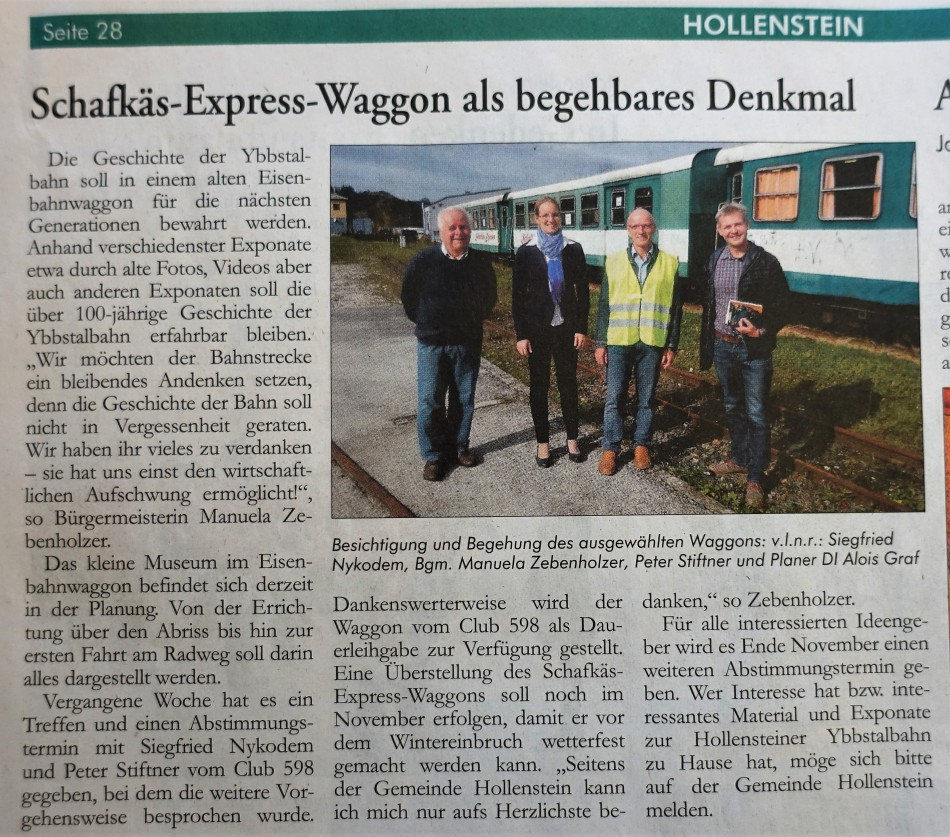 Hollenstein Waggon Ybbstaler 9.11.2017