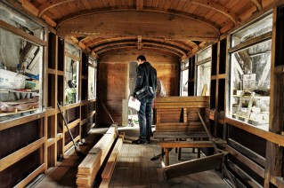 Innen Restaurierung K&K Waggon Ybbstalbahn