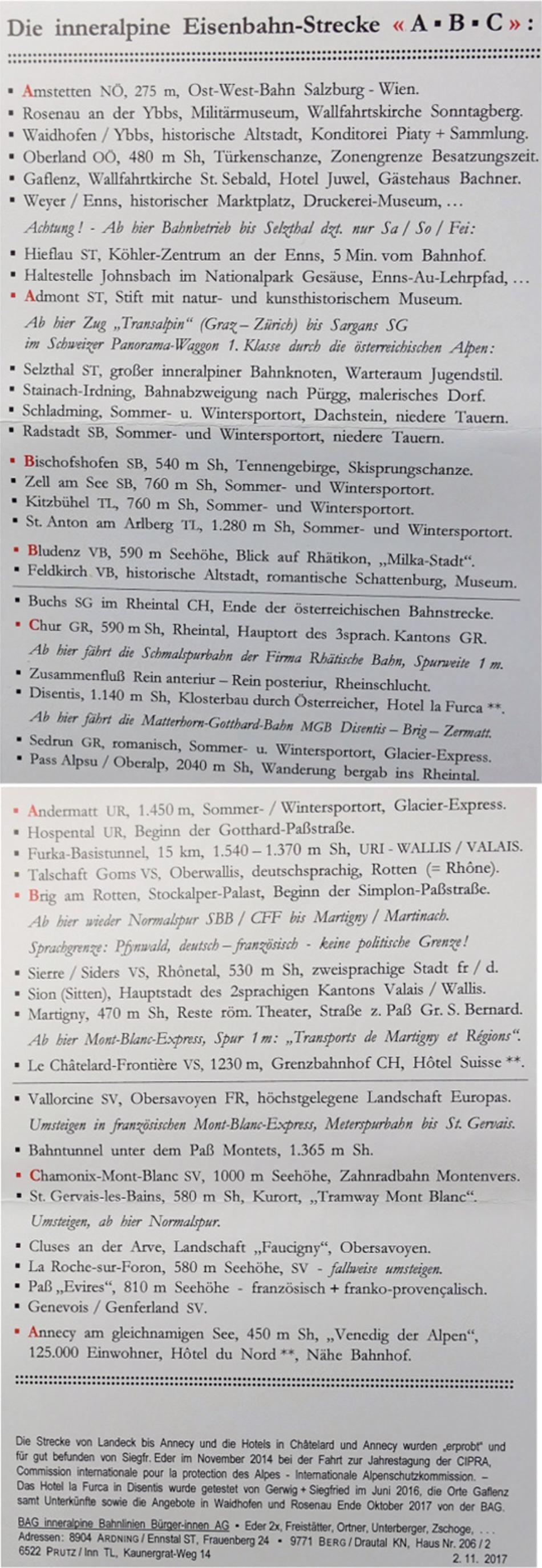 Inneralpine Eisenbahnstrecke Österreich Schweiz Frankreich