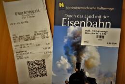Kulturwege Broschüre Eisenbahn mit Bon