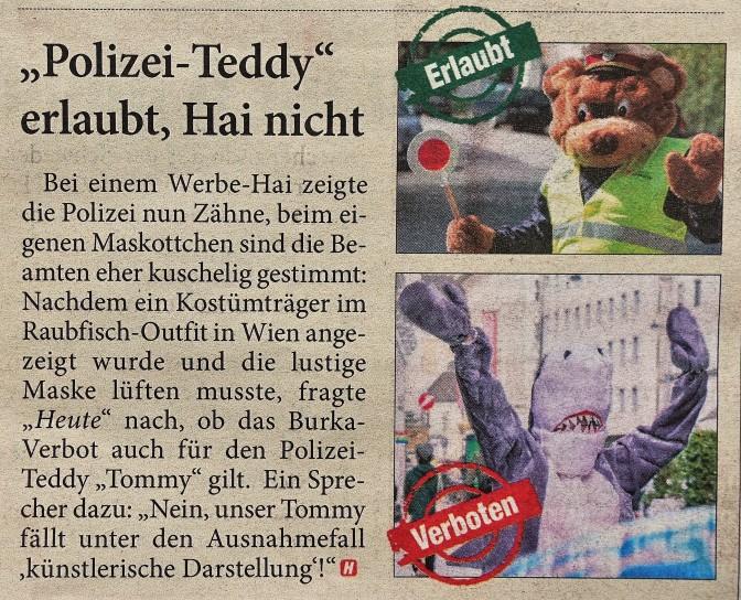 Polizeiteddy hete 10.10.2017