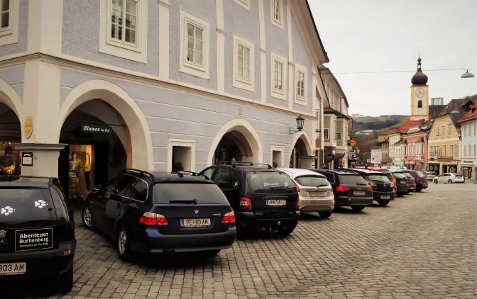 Schräg Parkplätze 2014 Alte Post und Erb