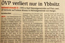 Ybbsitz ÖVP Wahl 2017