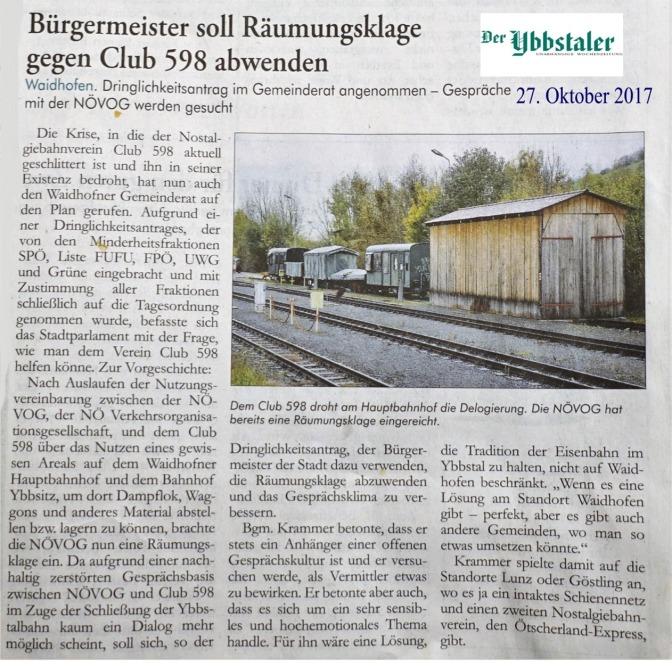 Ybbstaler 27.10.2017 Räumung Club 598