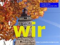 wir Waidhofen Stadtturm Herbst