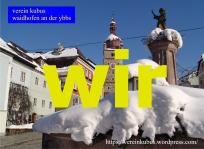 wir Waidhofen winter Brunnen