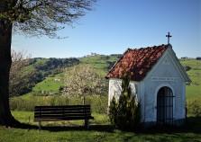 Blühende Bäume und Kapelle vor Sonntagberg 2017