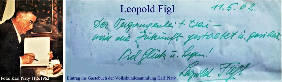 Leopold Figl Gästebucheintrag