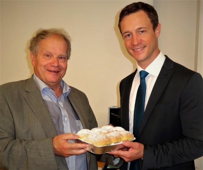 Piaty und ÖVP Generalsekretär Gernot Blümel 28.8.2014 (2)