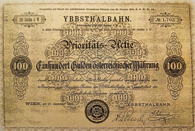 Aktie Ybbstalbahn 1894 soup (2)