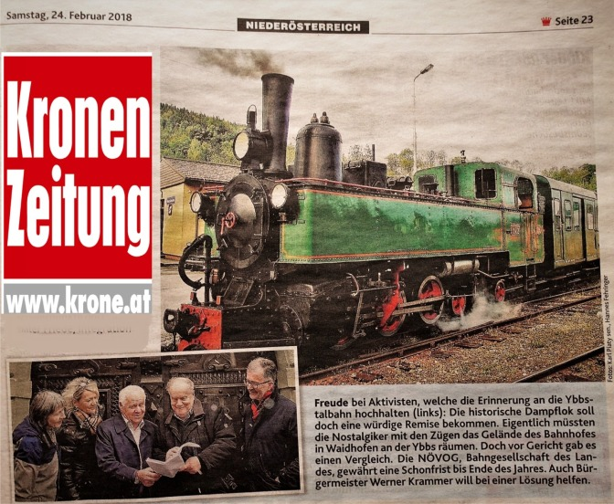 Krone Vergelich Gericht Ybbstalbahn 23.2.2018