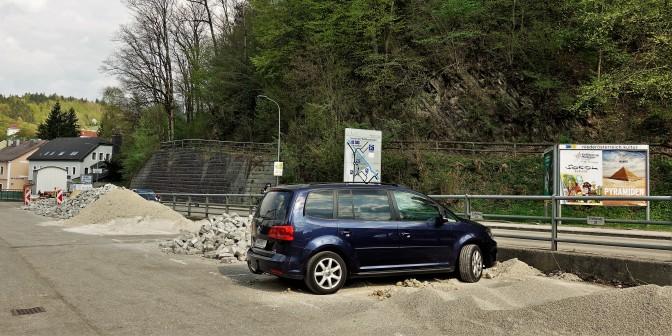 Parkplatz Pflasterablage 14.4.2018