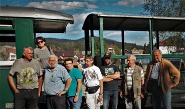 Gruppe Eisenbahnfreunde in Rumänien