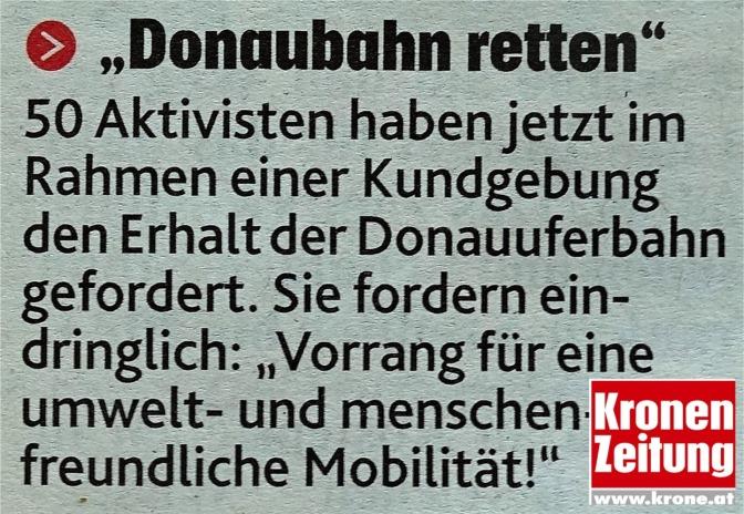 Donauuferbahn Krone