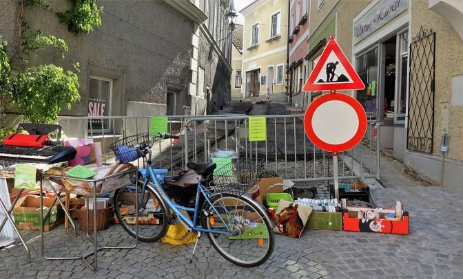 Abverkauf Fuzo vor Pflasterung 26.7.2018