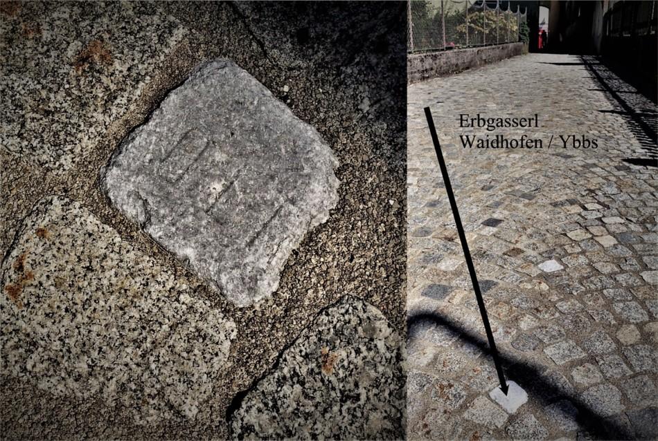 Erbgasserl mit Grabstein Material
