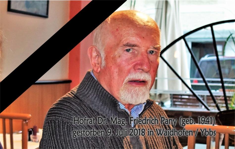 Fritz Pany letztes Bild