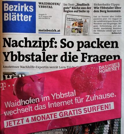 Bezirksblätter Telecom 16.8.2018