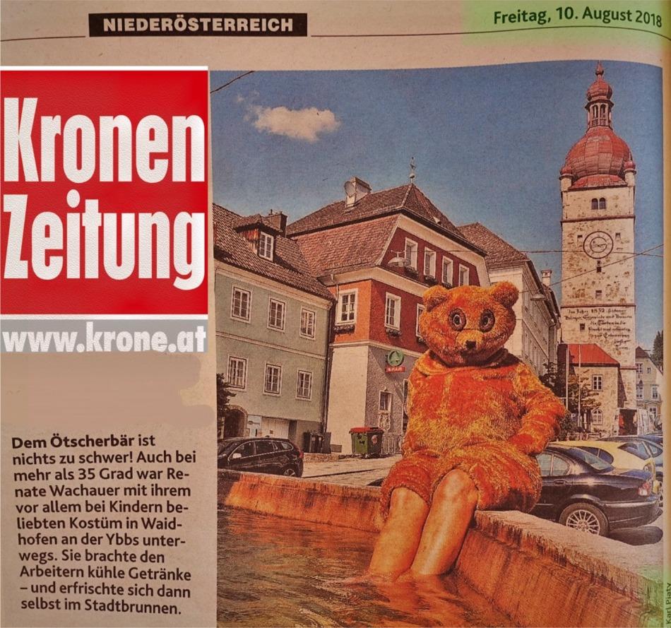 Krone 10.8.2018 Ötscherbär Brunnen logo